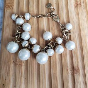 Stella & dot chunky pearl bracelet